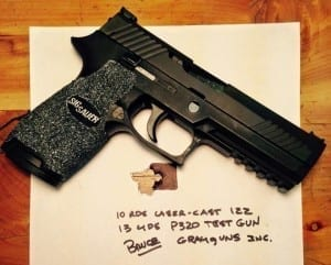 P320 shown includes new sights and grip texturing.