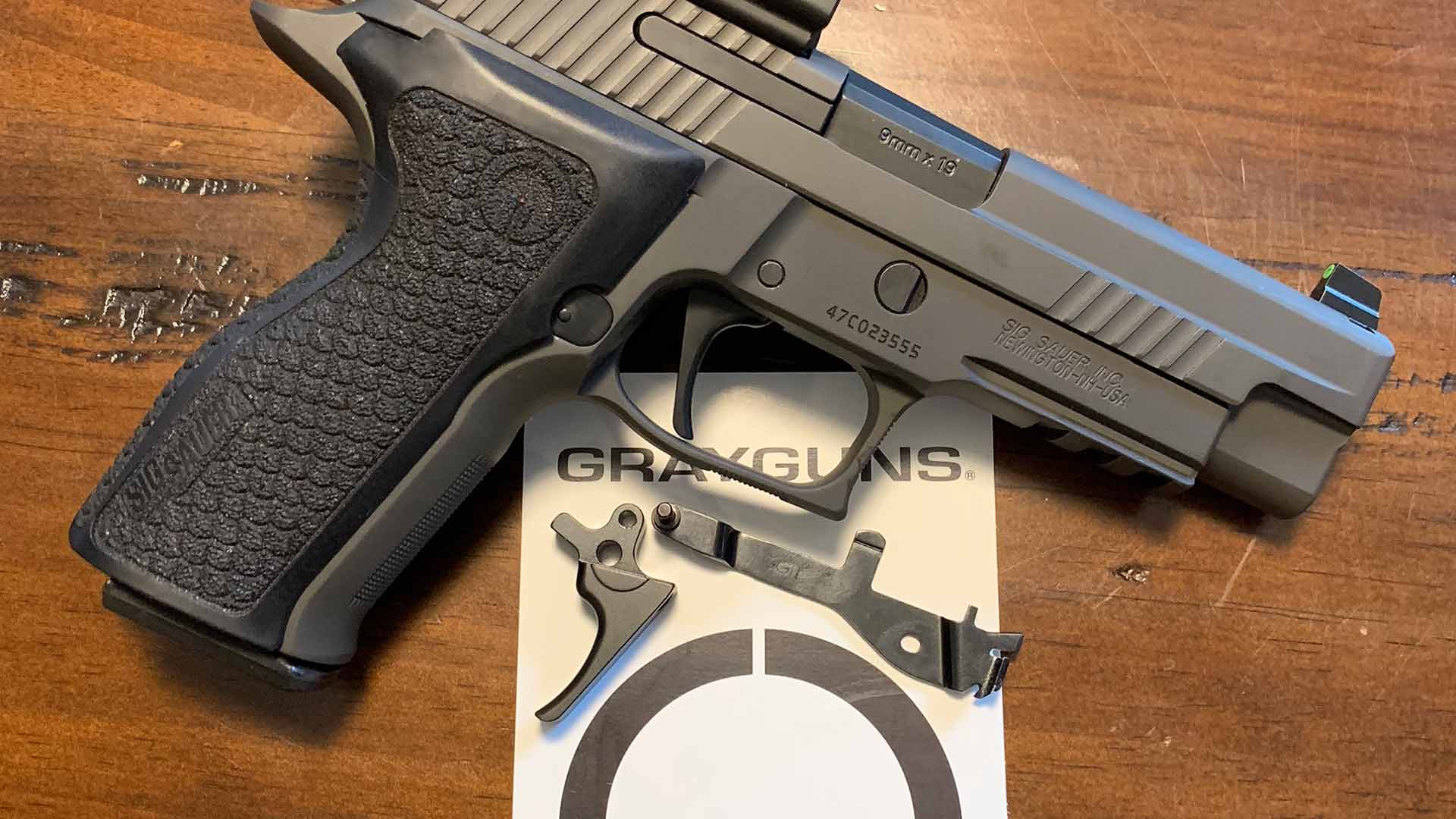 EDC Straight Optimized Trigger System for SIG P-Series