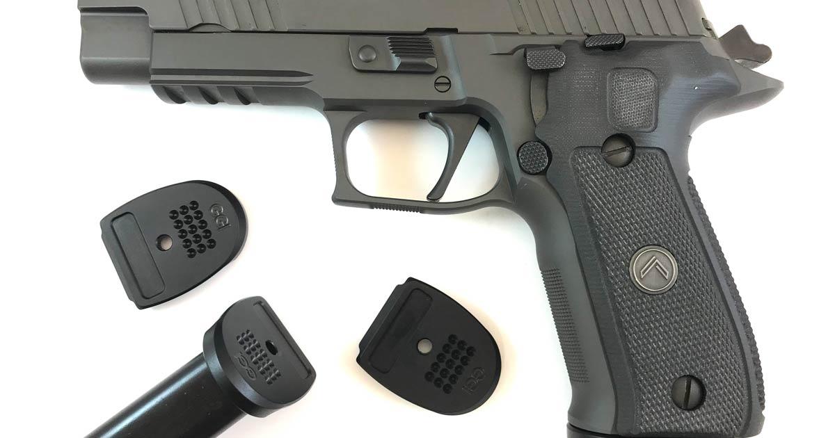 Hard Duty Use SIG P226 9mm Magazine Base Pads - Grayguns