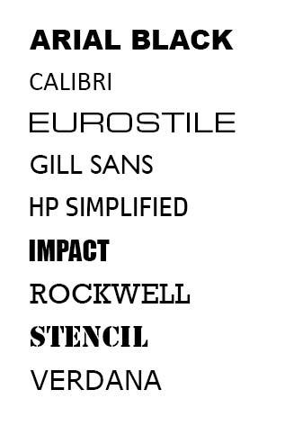 laser marking font examples
