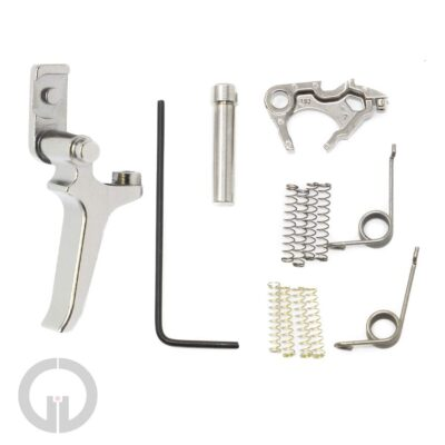 p320 competition kit, adjustable straight trigger in nickel